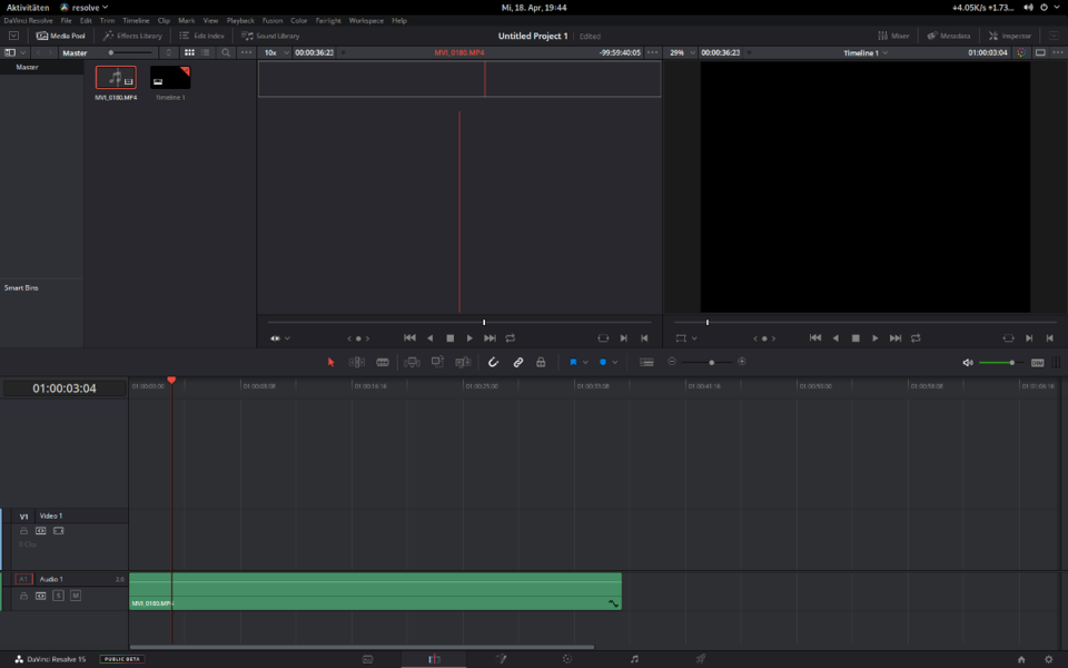 Import Footage into Resolve Free on Linux